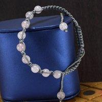Rose Quartz Gemstone Adjustable Bracelet PG-155845