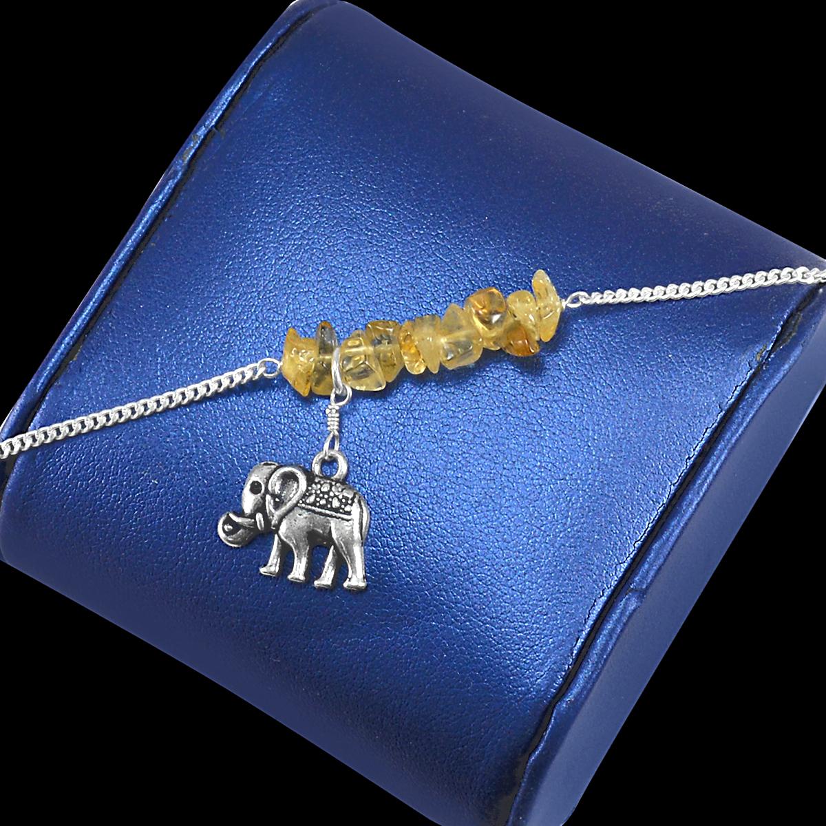 Citrine Gemstone Silver Bracelet PG-155855