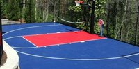 Synthetic Basketball Court Flooring For Academy