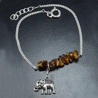 Tiger Eye Gemstone Silver Bracelet PG-155857