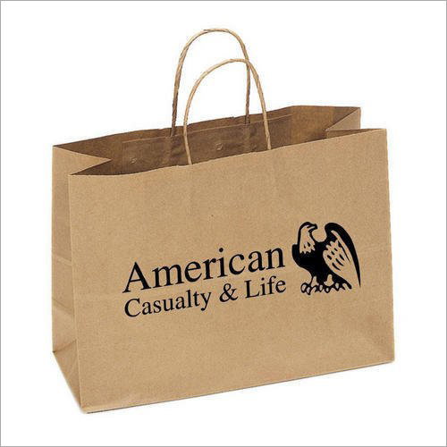 Printed Brown Paper Shopping Bag