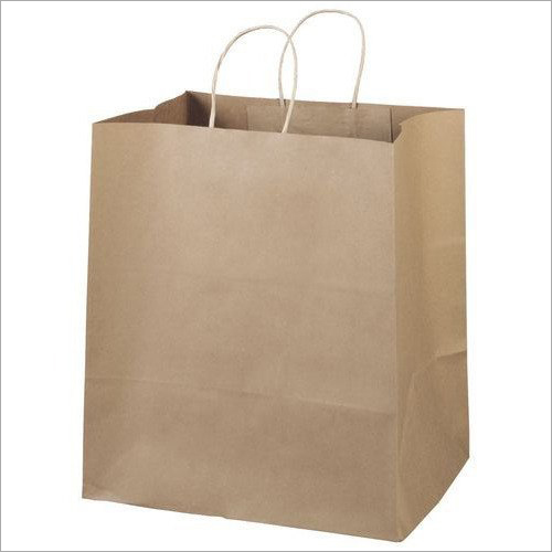 Plain Brown Kraft Paper Bag