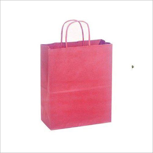 Plain Pink Paper Bag