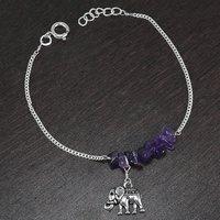 Amethyst Gemstone Silver Bracelet PG-155860