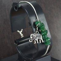 Green Aventurine Gemstone Silver Bracelet PG-155862