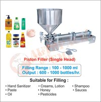 Hand Sanitizer Filling Machine (Single Head) / Piston Filler Single Head