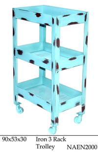 Iron 3 Rack Trolley
