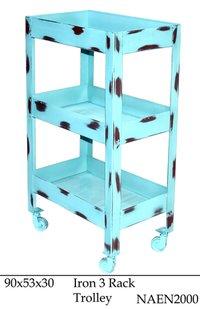 Iron 3 rack trolley
