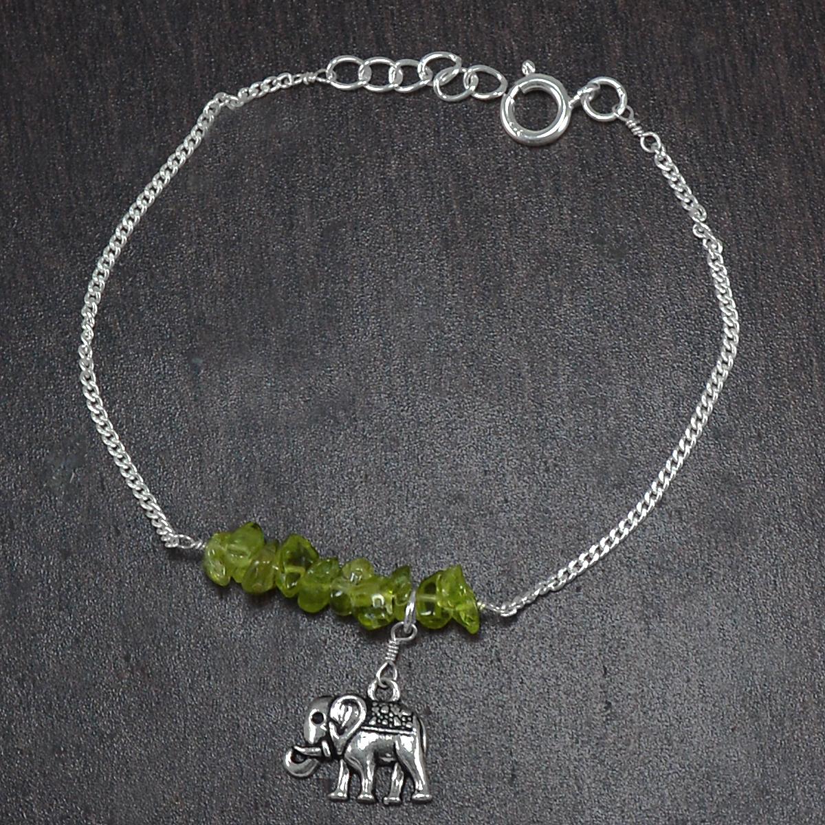 Peridot Gemstone Silver Bracelet PG-155864