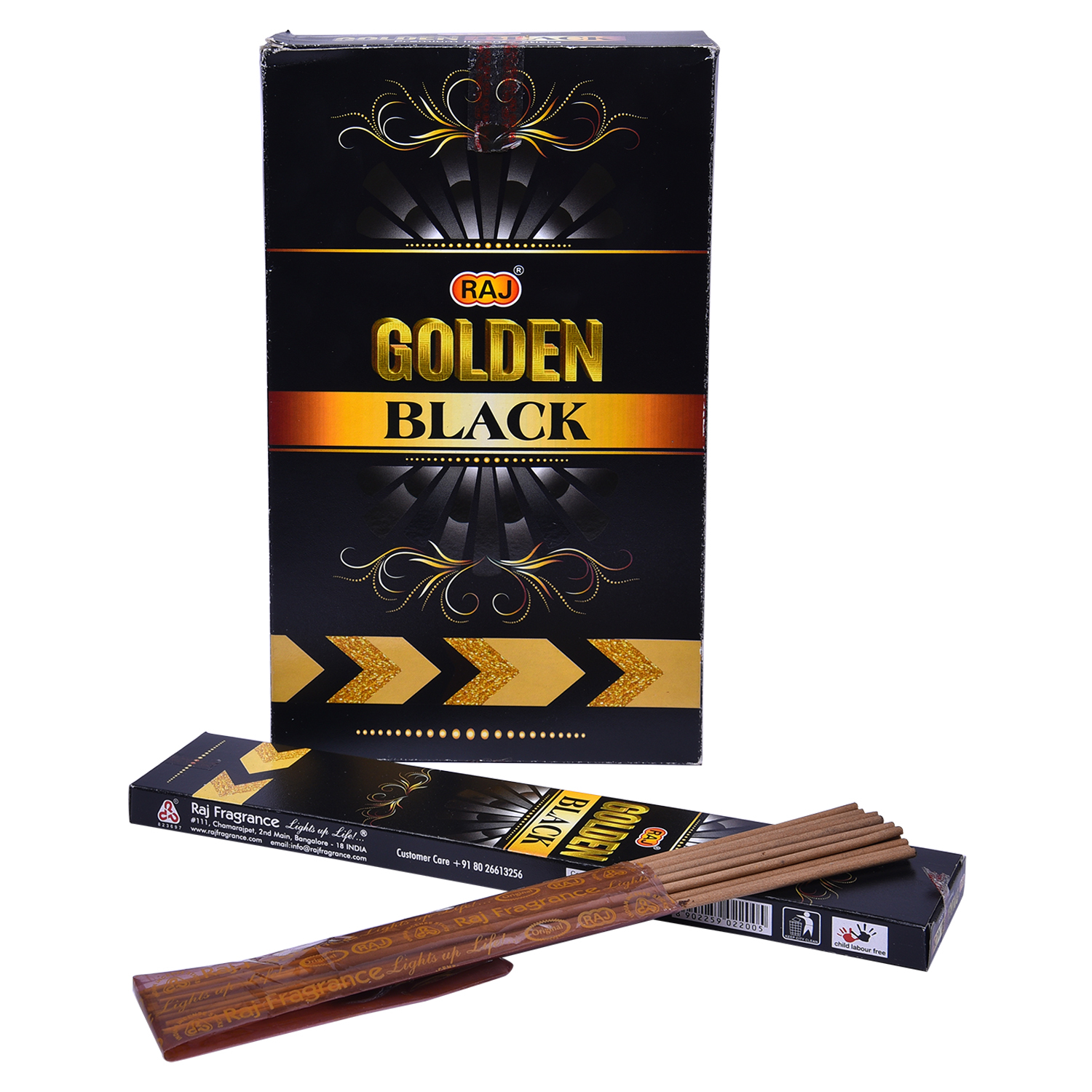 Raj golden black