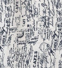 Cafe Printed Woven PC Drill Fabric