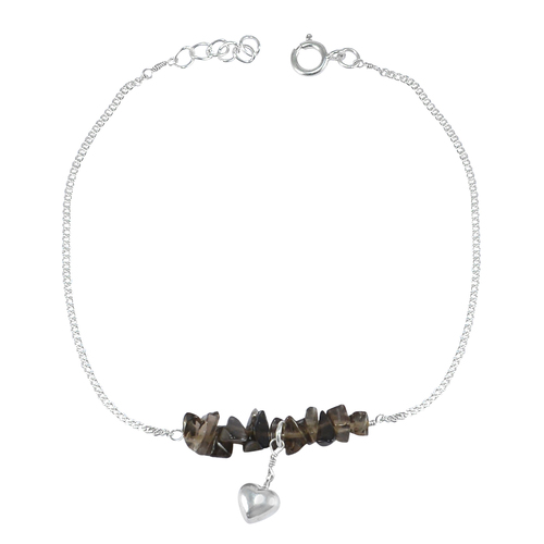Smokey Quartz Single Piece Anklet PG-155874