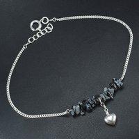 Snowflake Obsidian Single Piece Anklet PG-155875