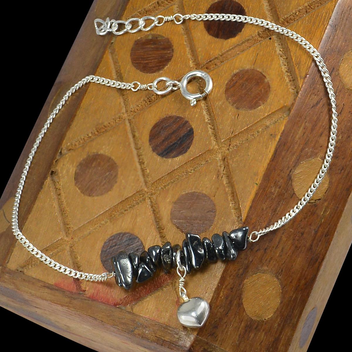 Hematite Single Piece Anklet PG-155876