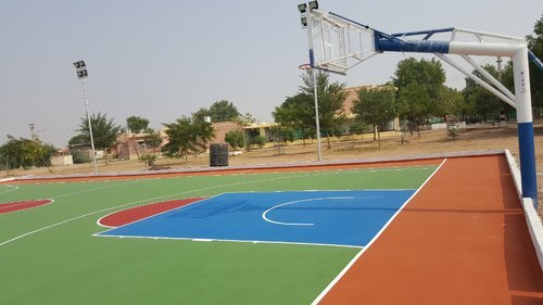 Synthetic Basketball Court Flooring 8 Layer Systems