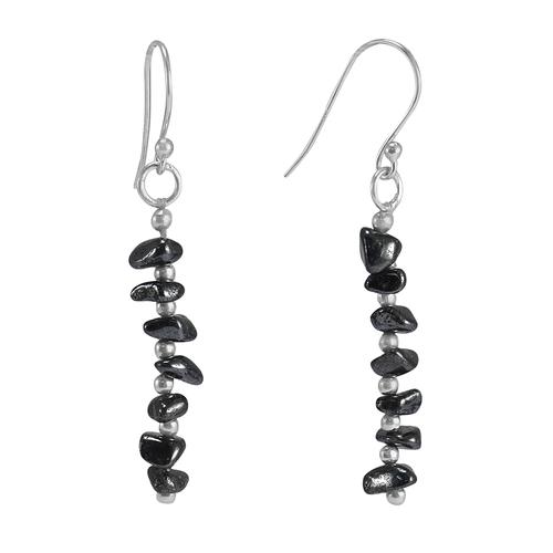 Silver Stone Earrings