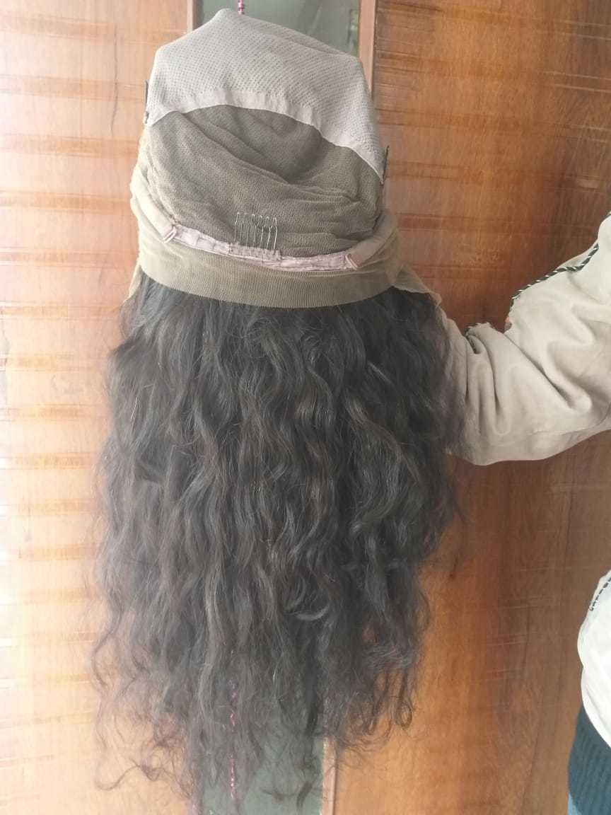Raw curly full lace wig