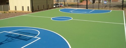 Acrylic Basketball Court 3 Layer Systems