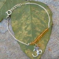 Citrine Gemstone Silver Bracelet PG-155894
