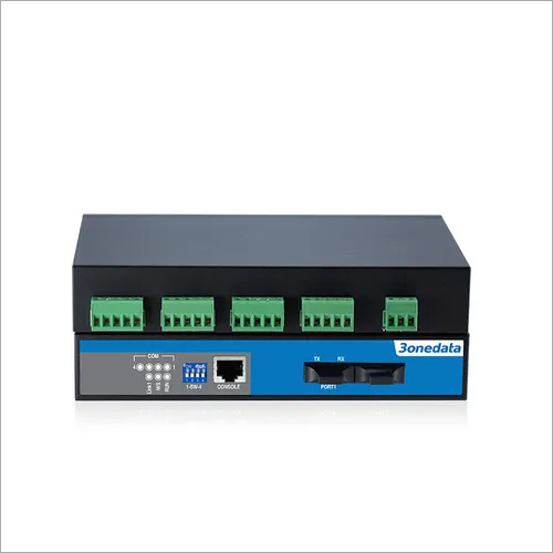 4-port RS-232/485/422 to Fiber Converter(IMF204-2F)
