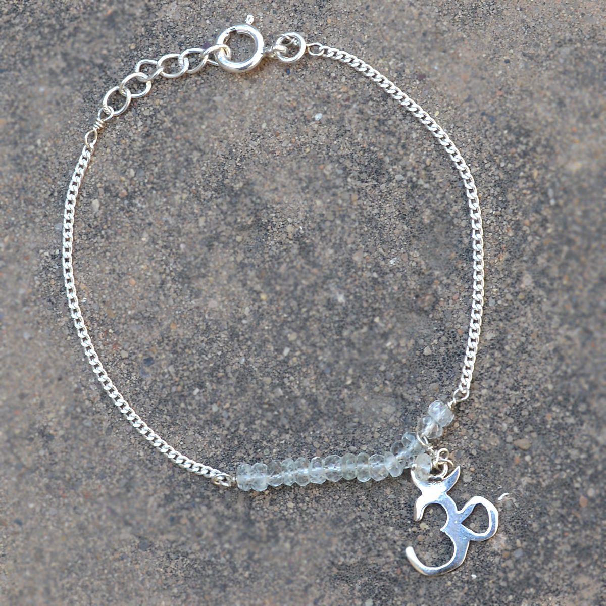 Crystal Gemstone Silver Bracelet PG-155896