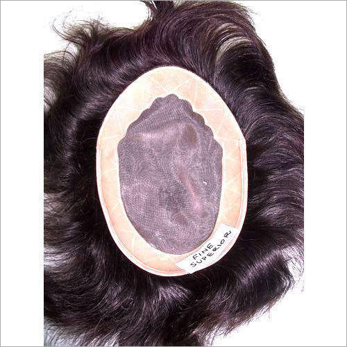 Fine Superior Human Hair Skin-Toupee-Patch