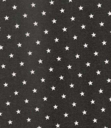 Star Printed Fine Canvas(Black/White)