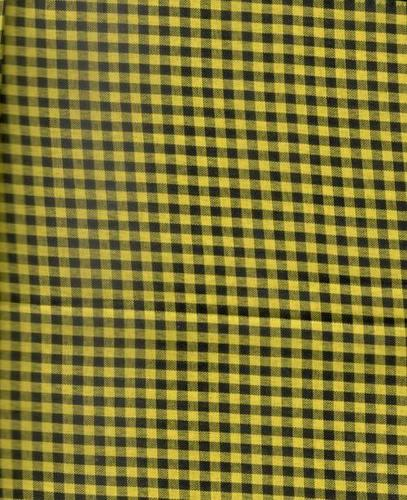 Yarn Dyed Poly Check(Yellow/Black)