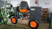 Concrete Mixer Machine With Wheel & Engine Type