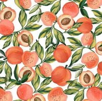 Apricot Fruit Printed Cotton Poplin