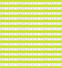 Geometric Printed Strip Canvas (Green/White/Black)