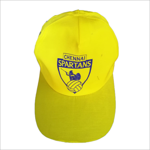 Yellow Printed Caps