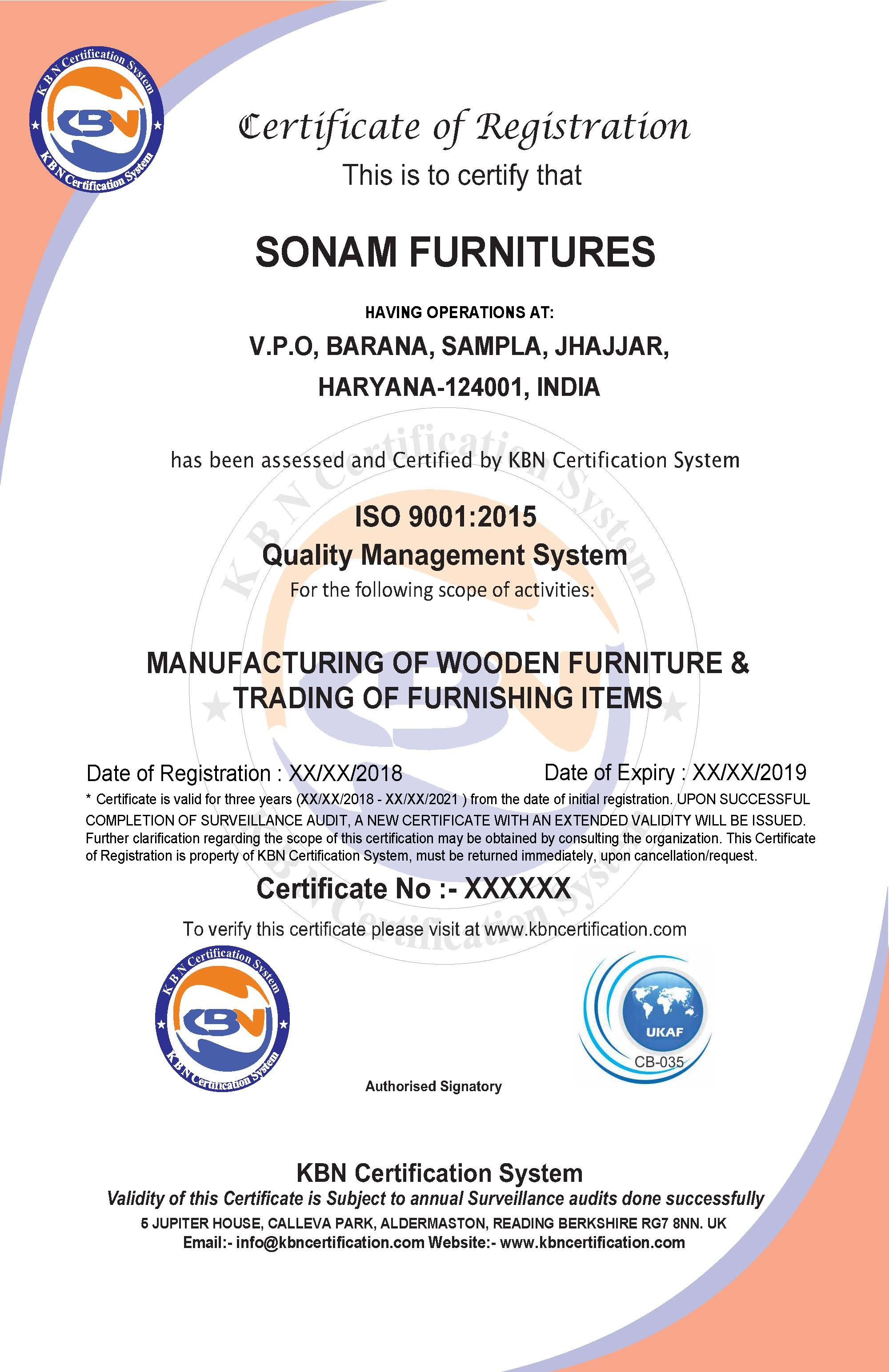 ISO 9001:2015 Certification Body in India
