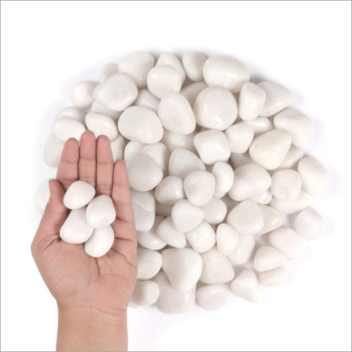 Pearl White Polished Pebbles Stone