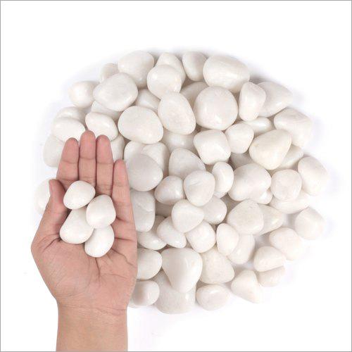 Pearl White Polished Pebbles Stone