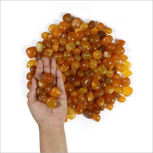 Amber Gold Polished Pebble Stones