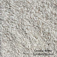 Crystal White Tumbled Gravel