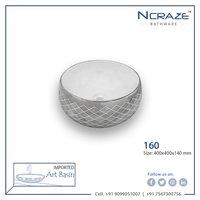 Silver Table Top Wash Basin