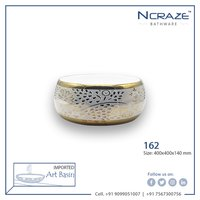 Golden Round Wash Basin