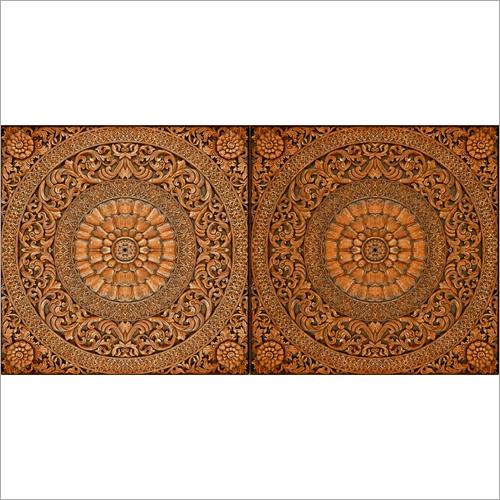 Mandala Printed Wood Tiles