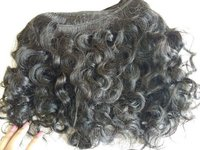 Raw Curly Machine Weft Human Hair