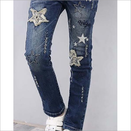 Ladies Patch Jeans