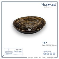 Black oval type wash basin