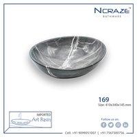 Black oval type wash basin