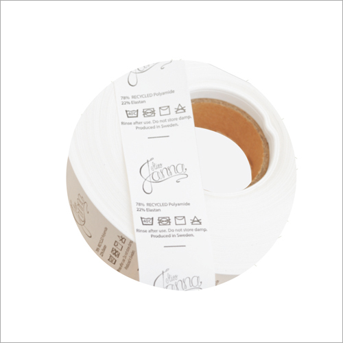 Wash Care Taffeta Labels