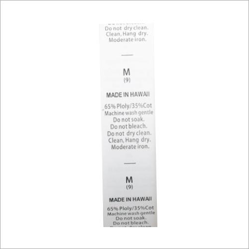 Medium Taffeta Wash Care Labels