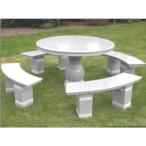 Stone Gardening Table and Bench