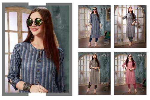 Ovvy Syasii Fancy Cotton Wholes Kurti