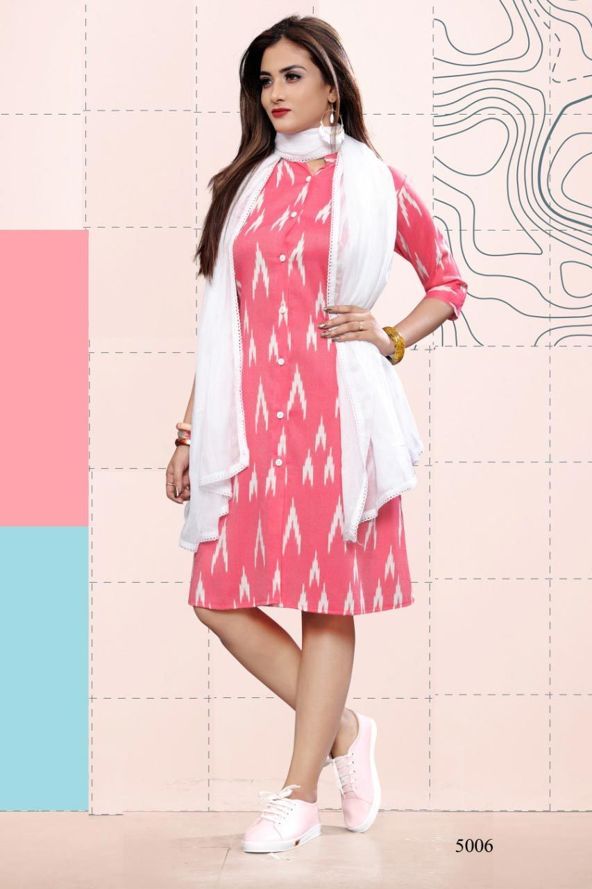 Snow Fall Dupatta Wholesale Kurti