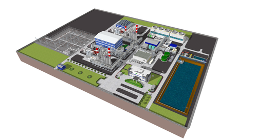 Virtual Image Of Power Plant